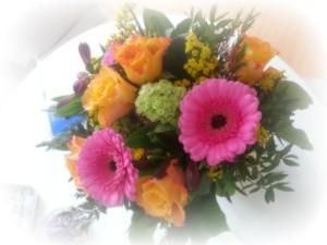 Ein schöner Strauss bunte Blumen
