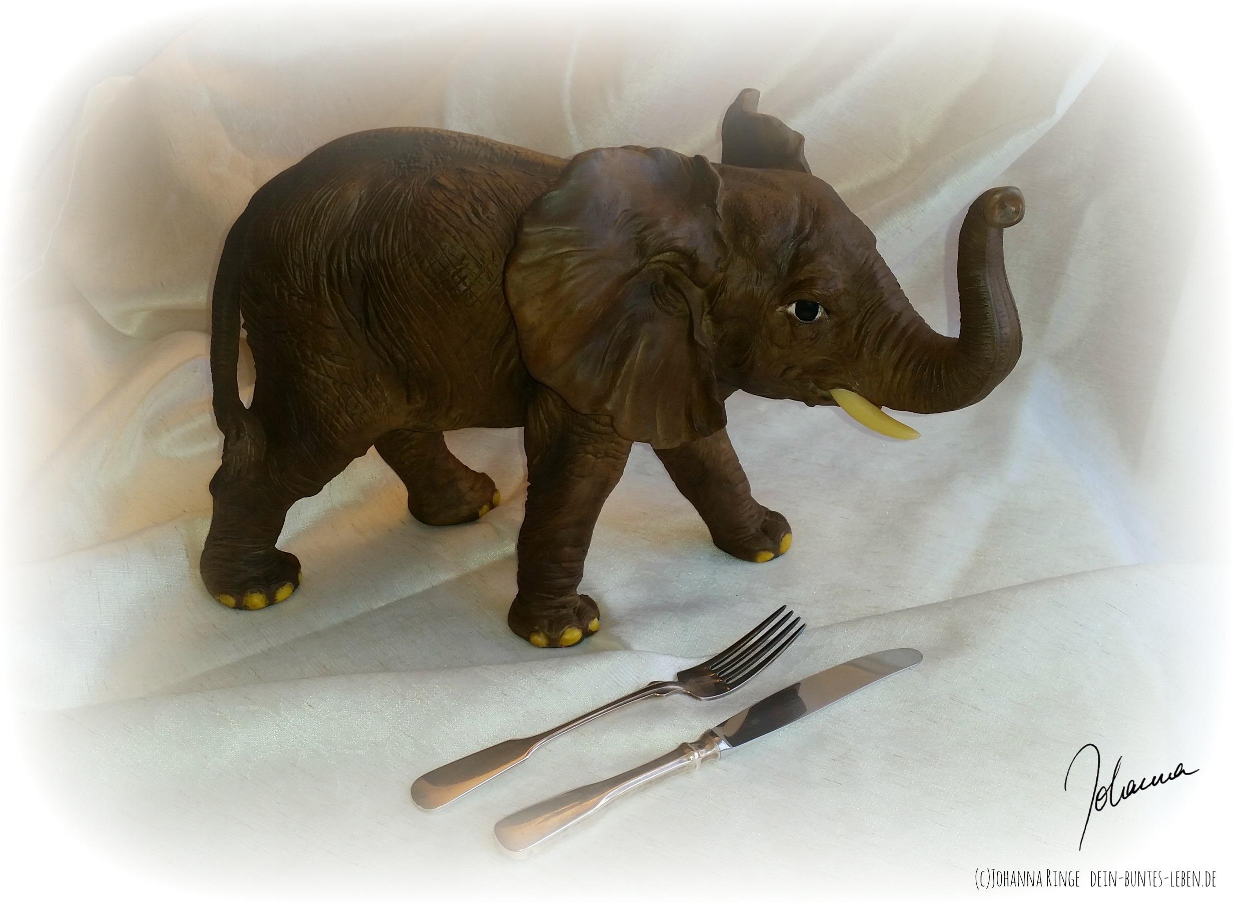 Heute essen wir einen elefanten, einen Bissen nach dem anderen...(c) Johanna Ringe