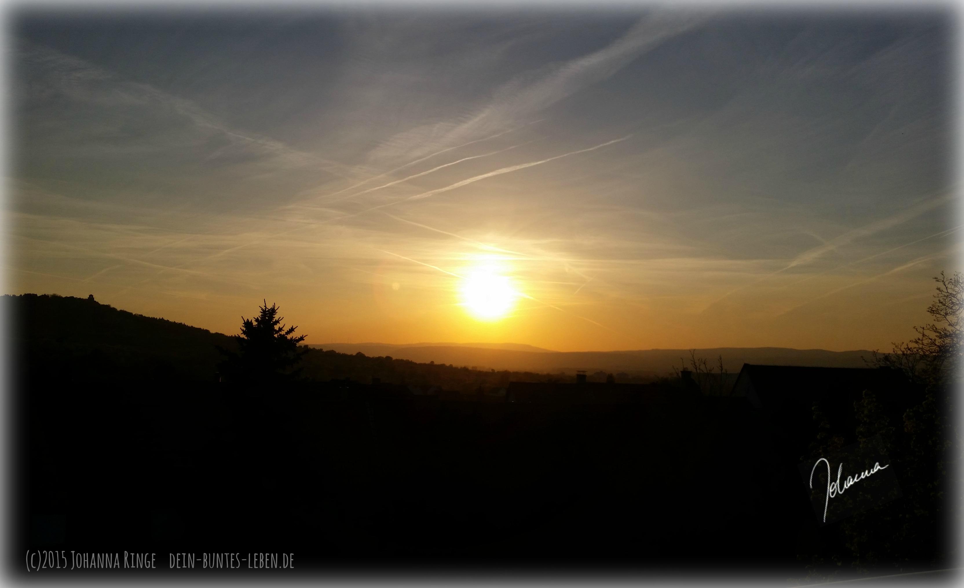 EIn Sonnenuntergang macht das Leben noch bunter...und kann Klarheit geben. (c)2015 Johanna Ringe