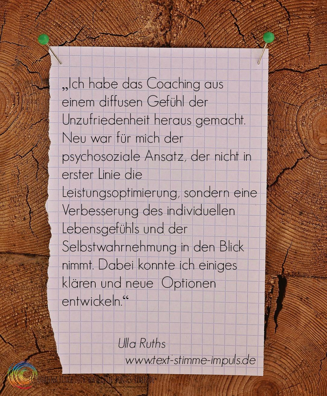 Ulla Ruths über Johanna Ringe 2015 www.dein-buntes-leben.de