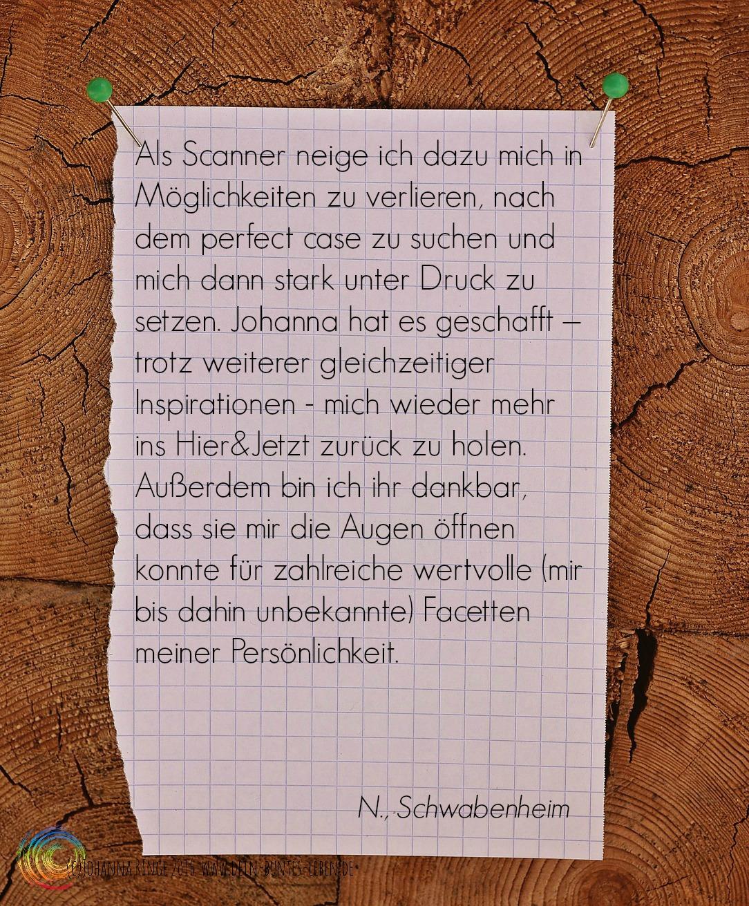 N.R. über Johanna Ringe www.dein-buntes-leben.de