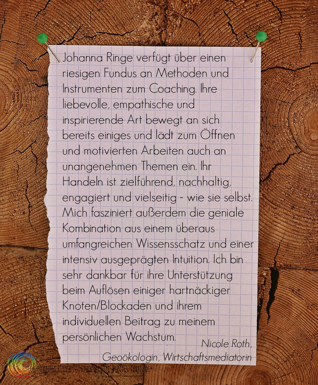 Nicole Roth über Johanna Ringe 2016 www.dein-buntes-leben.de