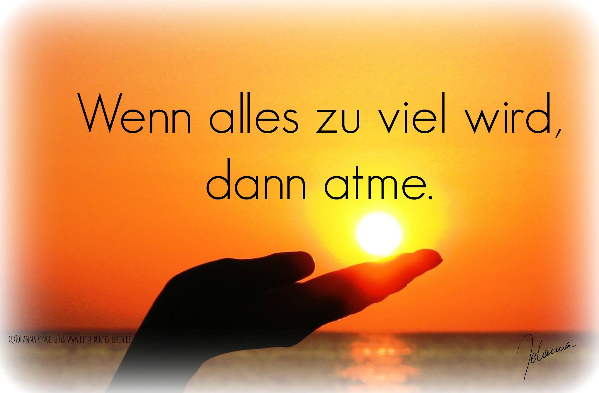 Wenn alles zu viel wird, dann atme! (c) Johanna Ringe 2016 www.dein-buntes-leben.de