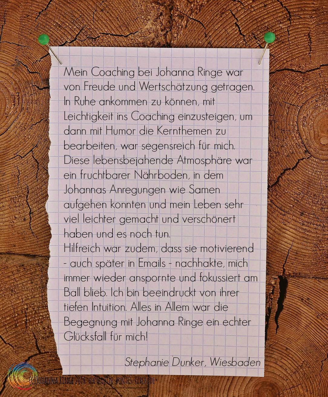 Referenz: Nebenstehender Text auf Zettel an Pinnwand, (c) Johanna RInge www.dein-buntes-leben.de