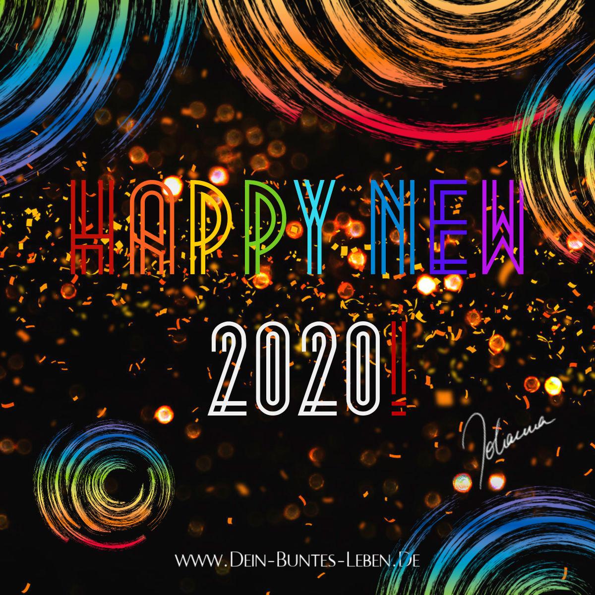 Frohes Jahr 2020! Happy new 2020! ©2020 Johanna Ringe www.dein-buntes-leben.de