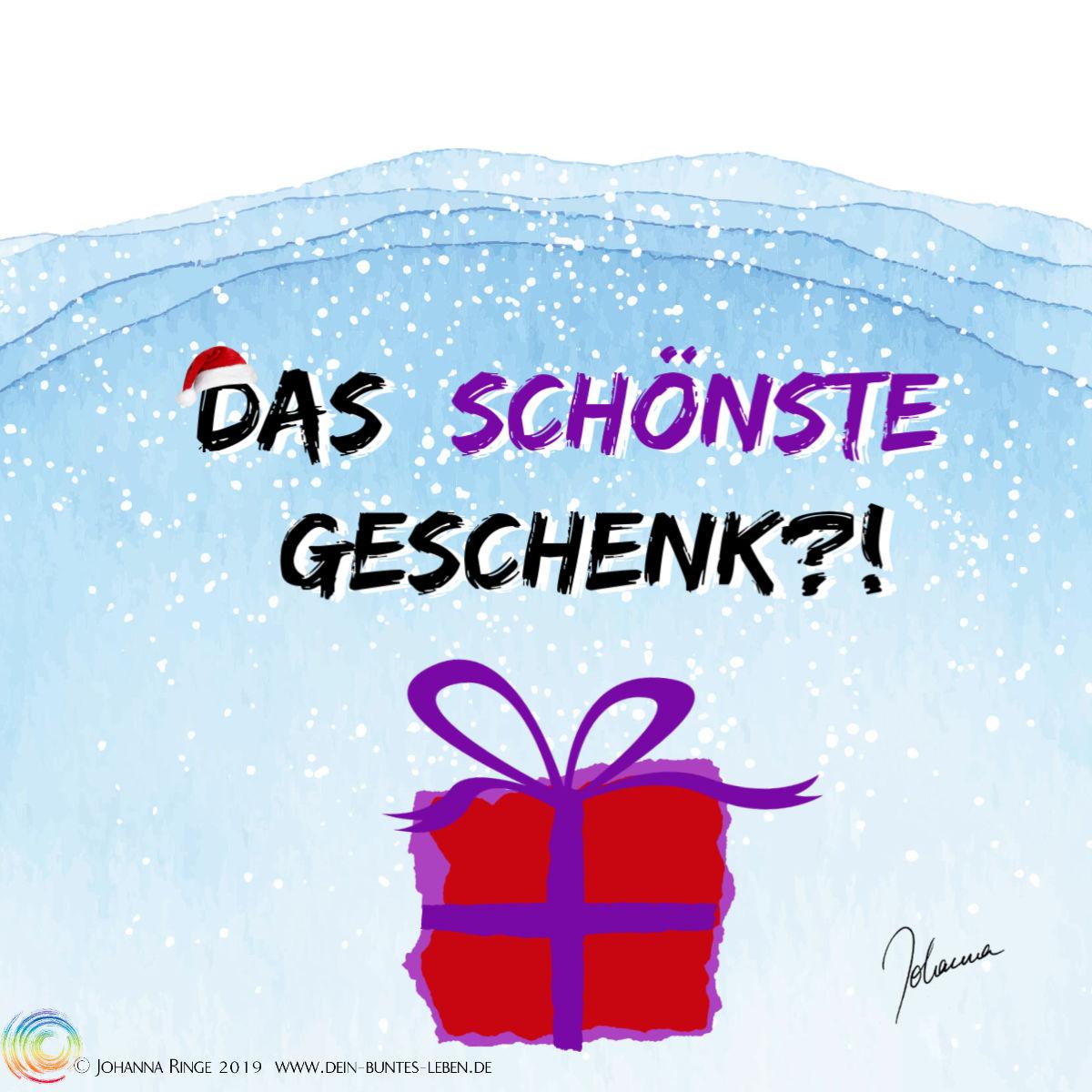 Das schönste Geschenk?! Paket im Schnee. ©2019 Johanna Ringe www.dein-buntes-leben.de