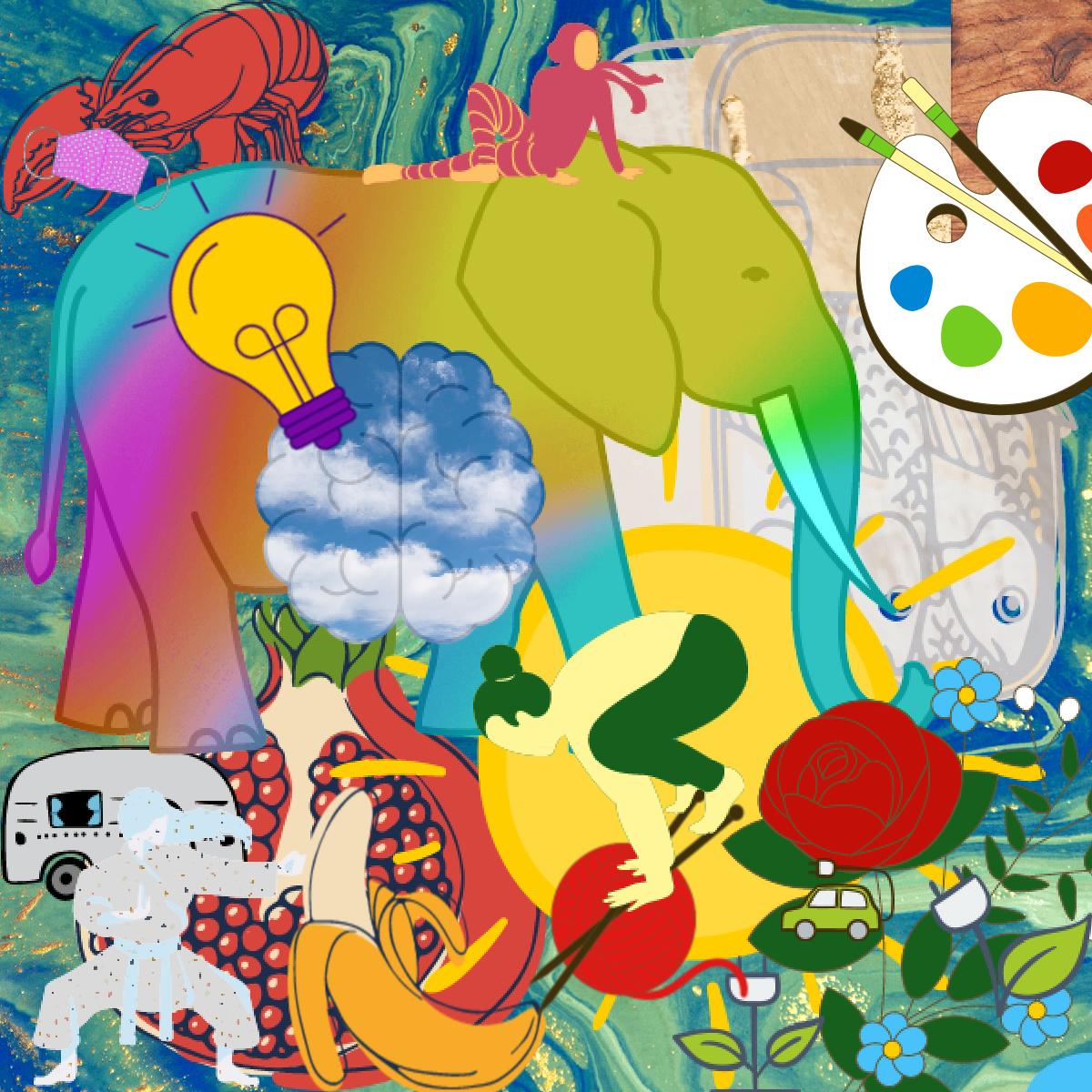 Collage : Workshop zum Jahreswechsel. ©Johanna Ringe 2020 . www.dein-buntes-leben.de
